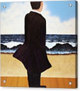 Boardwalk Man Acrylic Print
