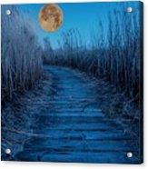 Boardwalk Moon Acrylic Print