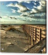 Boardwalk On The Beach Acrylic Print