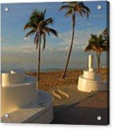Boardwalk Palms Acrylic Print