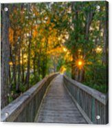 Boardwalk Sunset Acrylic Print
