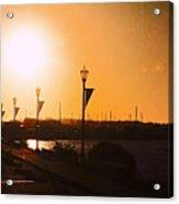 Boardwalk Sunset Acrylic Print