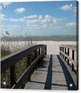Boardwalk To The Beach Acrylic Print
