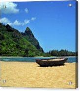 Boat And Bali Hai Acrylic Print