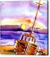 Boat Ashore Acrylic Print