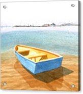 Boat At Low Tide Acrylic Print