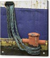 Boat Detail Husavik Iceland 3701 Acrylic Print