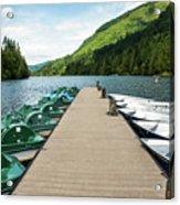 Boat Fun At Silver Lake Acrylic Print