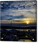 Boat Harbor At Sunset Acrylic Print