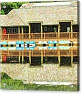 Boat House At Verona Park  Acrylic Print