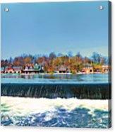Boat House Row From Fairmount Dam Acrylic Print
