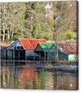 Boat Huts Acrylic Print