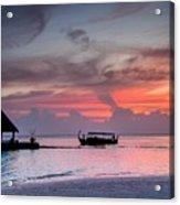 Boat Sunset Acrylic Print