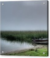 Boat In The Fog Acrylic Print