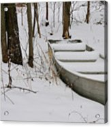 Boat In Winter Acrylic Print