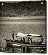 Boat - Lago De Coatepeque, El Salvador Acrylic Print