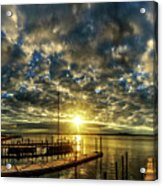 Boat Launch Sunrise Acrylic Print
