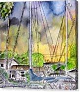 Boat Marina Acrylic Print