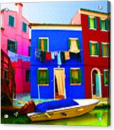 Boat Matching House Acrylic Print