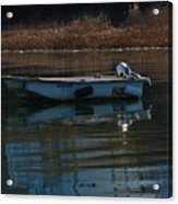 Boat On A Calm Day Acrylic Print