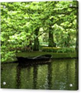 Boat On A Lake Acrylic Print