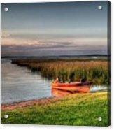 Boat On A Minnesota Lake Acrylic Print
