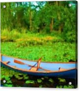 Boat On Bryant Pond Acrylic Print