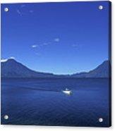Boat On Lake Atitlan Guatemala Acrylic Print
