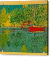 Boat On Lake Acrylic Print
