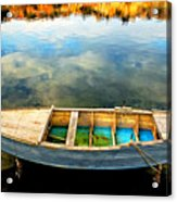 Boat On Lake Acrylic Print