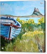 Boat On Lindisfarne. Acrylic Print