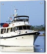 Boat On Pellicer Creek Acrylic Print