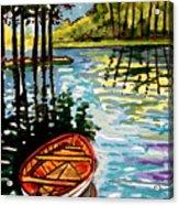 Boat On The Bayou Acrylic Print