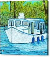 Boat On The River Acrylic Print