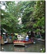 Boat On The San Antonio River Acrylic Print