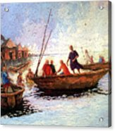 Boat Peaple Acrylic Print