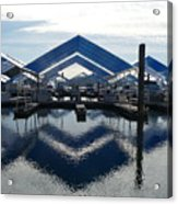 Boat Reflection On Lake Coeur D'alene Acrylic Print