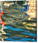 Boat Reflections - Hvar Croatia Acrylic Print