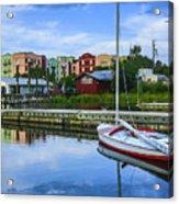Boat Reflections Of Fernandina Beach Acrylic Print