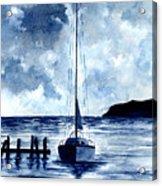 Boat Scene - Blue Sky Acrylic Print