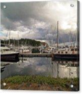 Boat Slips At Anacortes Marina In Washington State Acrylic Print