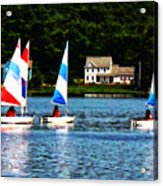 Boat - Striped Sails Acrylic Print