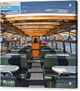 Boat Trip In The Channles Of Amsterdam Acrylic Print