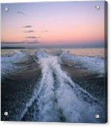 Boat Waves Acrylic Print