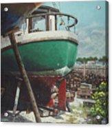 Boat Yard Boat 01 Acrylic Print