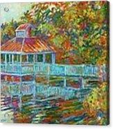 Boathouse At Mountain Lake Acrylic Print