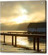 Boathouse Daybreak Acrylic Print