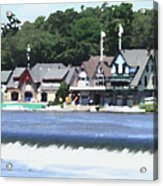 Boathouse Row - Palette Knife Acrylic Print