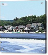 Boathouse Row 2 - Palette Knife Acrylic Print