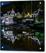 Boathouse Row Eight By Ten Acrylic Print